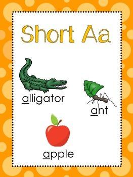 Vowel Anchor Charts. Kindergarten, 1st Grade-5th Grade, Homeschool.
