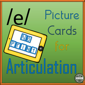 Vowel Articulation Cards for Long A: No Print/Digital