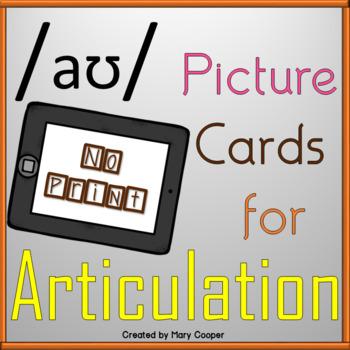 "Vowel Articulation Cards for ""ow"": No Print/Digital"