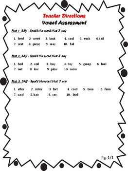 Vowel Assessment