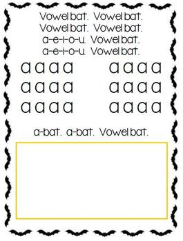 Vowel Bat Book and Activity