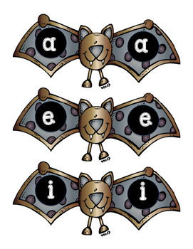 Vowel Bat Sticks
