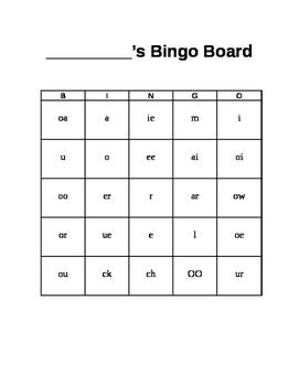 Vowel Bingo Cards
