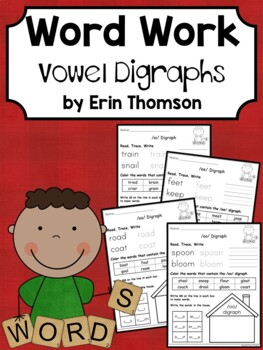 Daily 5 Word Work - Vowel Digraphs