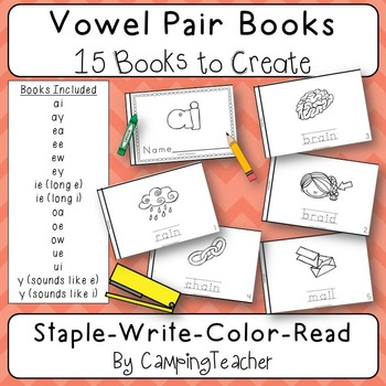 Vowel Books {15 Books to Create}