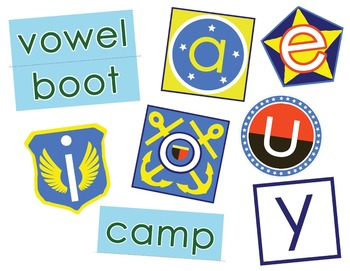 Vowel Boot Camp Wall