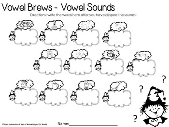 Vowel Brews FREE {Missing Vowels Activity}