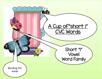 Vowel  CVC words: short a,e,i,o,u CVC words( BUNDLE)