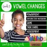Vowel Changes Spelling Word Work Unit