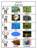"Vowel Chart (From ""Vowel Sound Samba"")"