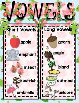 "Vowel Chart ""Scratch Garden"""