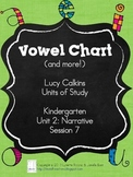 Vowel Chart (and more!) - Lucy Calkins Units of Study: K, Unit 2, Session 7
