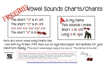 Vowel Charts/Chants