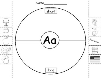 Vowels - Long and Short Vowel Circle Maps