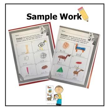 Vowel Classroom Search- Literacy Center (Minimal Prep Work)