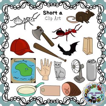 Vowel Clip Art: Short A