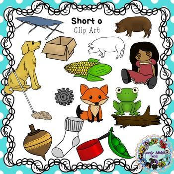 Vowel Clip Art: Short O