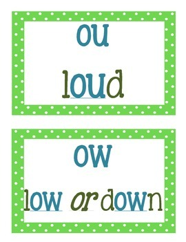 Vowel Combination Display Cards