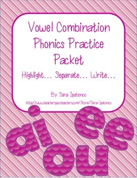 Vowel Combination Phonics Practice Packet