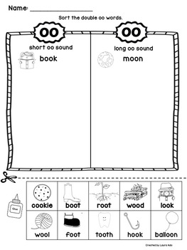 Vowel Combination Sorts Freebie (oo, ow & ea)