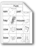 Vowel Combinations: ai, ay, ow, ou, oo