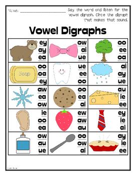 Vowel & Consonant Digraph Bundle {No Prep!}