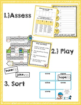 Vowel Consonant E Game and Word Sort Bundle