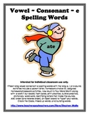 Vowel Consonant E - Long A, I, & O Spelling Words Activity Packet