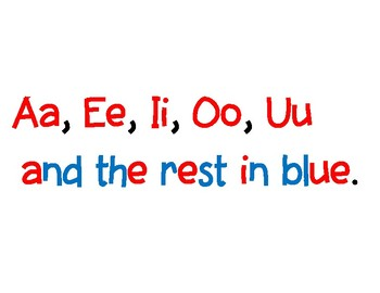 Vowel / Consonant Red/Blue - Poster