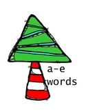 Vowel Consonant e Christmas-themed sorting activity