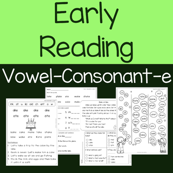 Vowel-Consonant-e (cvce) Lessons, Reading Comprehension Passages and Questions