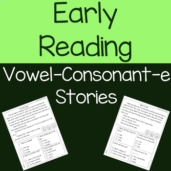 Vowel-Consonant-e (cvce) Decodable Reading Passages and Comprehension Questions