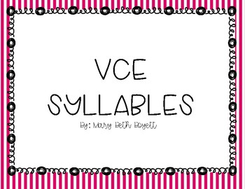 Vowel Consontant E (VCE) Syllable Mini Lesson for Small Group or Whole Group