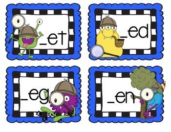 Vowel Detective - Short E Word Families