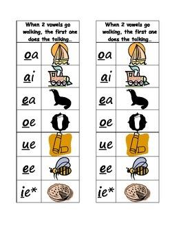 Vowel Diagraph Bookmark