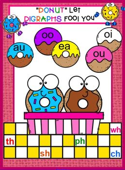 """Vowel Diagraphs oo, ou, oi, aw  """"Donut Let the Vowels Fool You"""""""