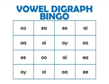 Vowel Digraph Bingo