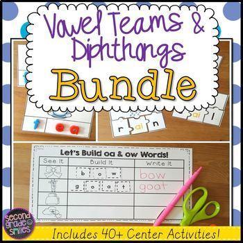 Vowel Teams and Diphthongs Word Work Bundle