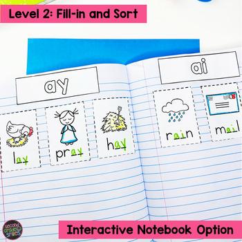 Vowel Teams and Diphthongs Cut and Paste Word Sorts