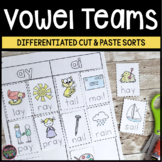 Vowel Teams and Diphthongs Cut and Paste Word Sorts