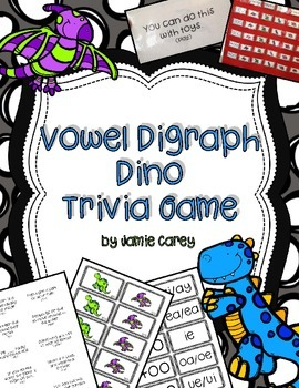Vowel Digraph Dino Trivia Game