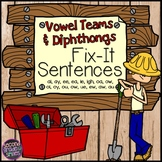 Vowel Teams and Diphthongs (Sentence Editing)