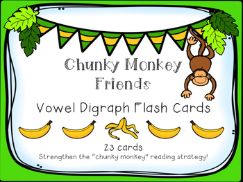 Vowel Digraph Flash Cards