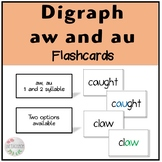 Vowel Digraph Flashcards (au and aw)