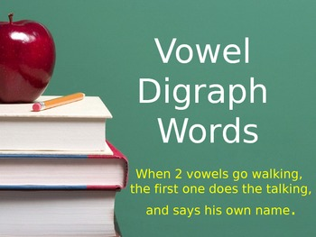 Vowel Digraph Flashcards - ee, ea, oa, ay, ue, ai, ie, ow