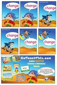 Vowel Digraph Game - ea, ee, ai & ay - Change