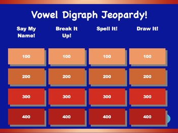 Vowel Digraph Jeopardy Games! {13 games}