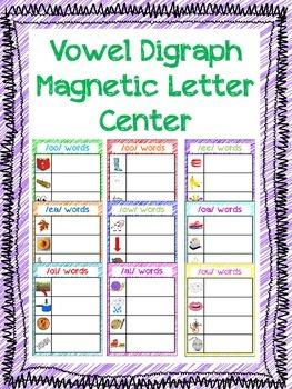 Vowel Digraph Magnetic Letter Center