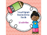 Vowel Digraph Read-and-Draw Bundle {26 activities}