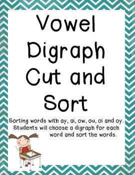 Vowel Digraph Sort Common Core